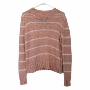 Superdry Mohair Blend Blush Pink Knit Sweater L